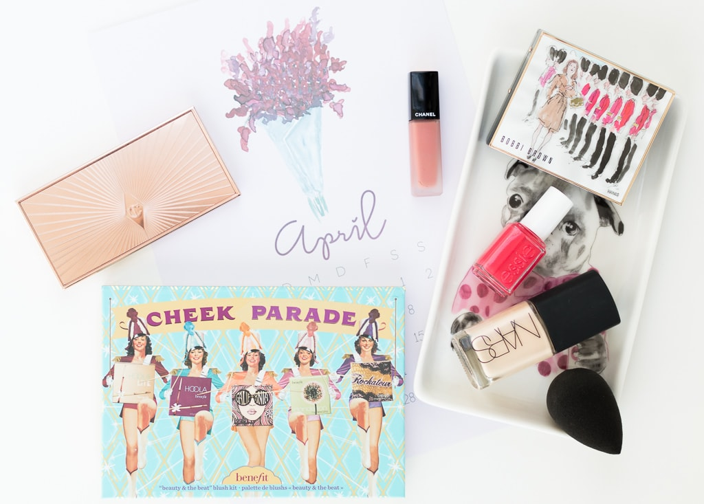 Beauty Favoriten April 2017 mit Charlotte Tilbury Bobbi Brown Benefit Nars Chanel Essie Beautyblender