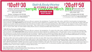 Bath And Body Works coupons for march 2017
