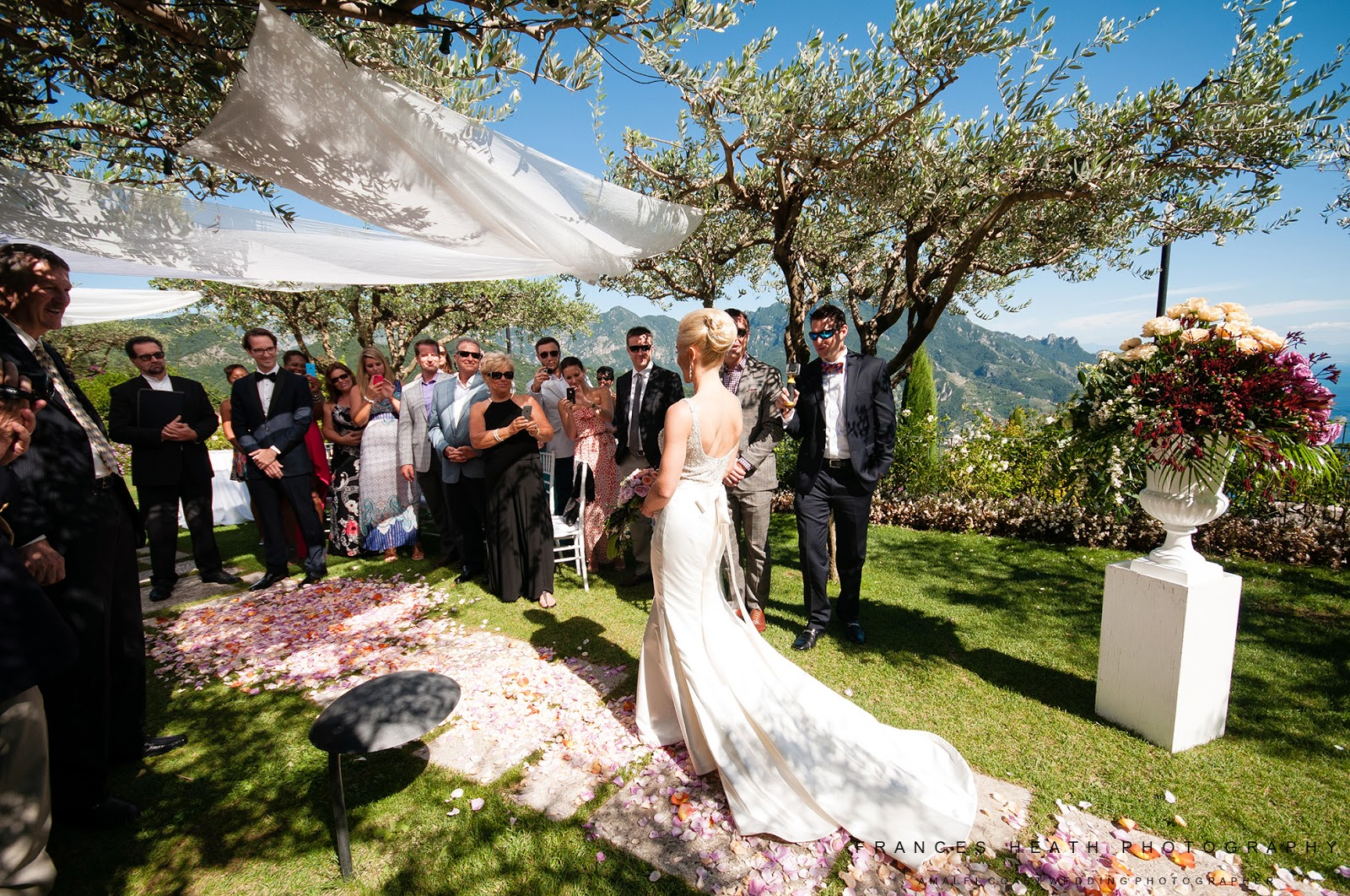Symbolic wedding ceremony at Hotel Caruso