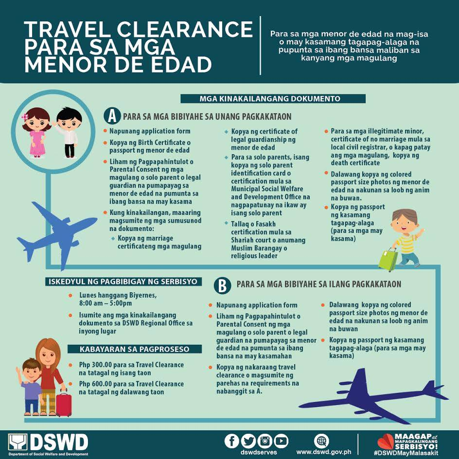 Dswd guidance and requirements travel clearance for minors advertisement thecheapjerseys Gallery