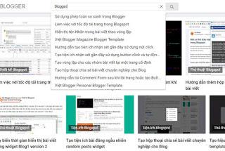 Hướng dẫn tạo form live search cho Blog