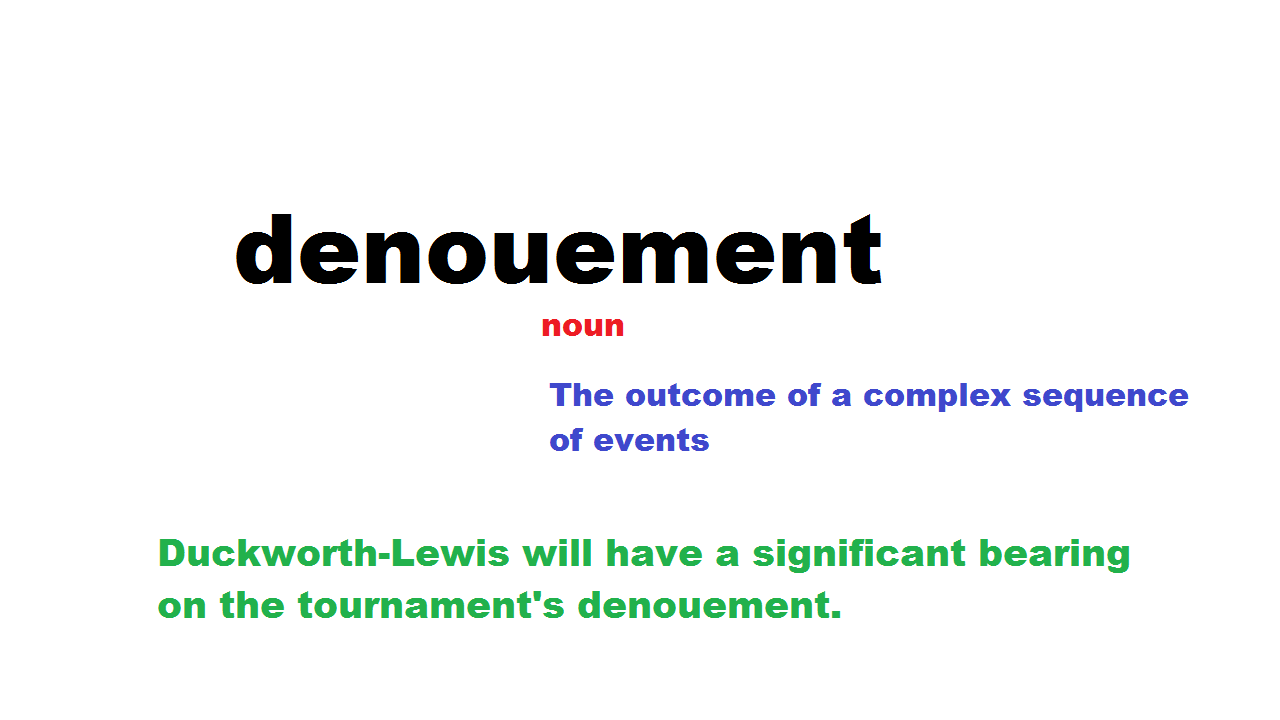 what is the meaning of denouement in a story