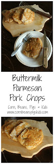 Buttermilk Parmesan Pork Chops - a juicy, flavorful recipe for anytime of the year #dairymonth