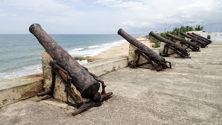 Huge canons in Ghana to protect the slave master