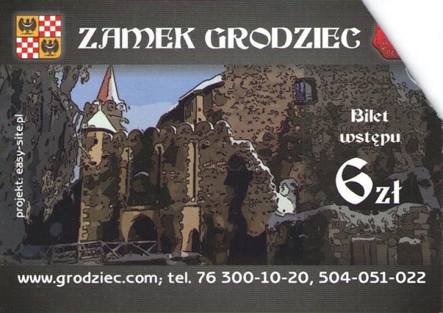 bilet, projekt, dane kontaktowe, zamek Grodziec