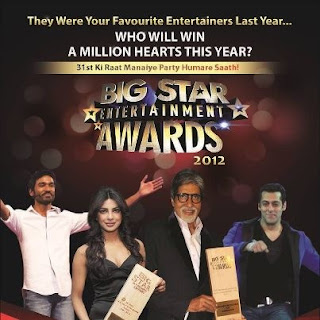 Download Big Star Entertainment Awards [2012] HDTv 480p [31st Dec 2012] [Main Event] 720 MB Watch Online