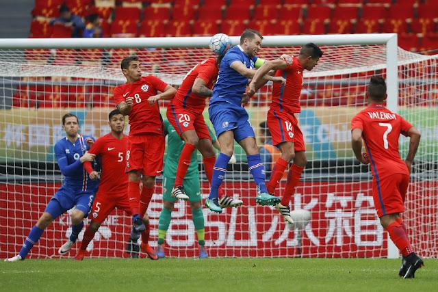 Islandia y Chile en 2017 China Cup, 15 de enero
