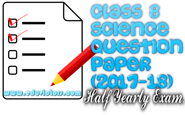 8th Class Past Papers Of Science 2017