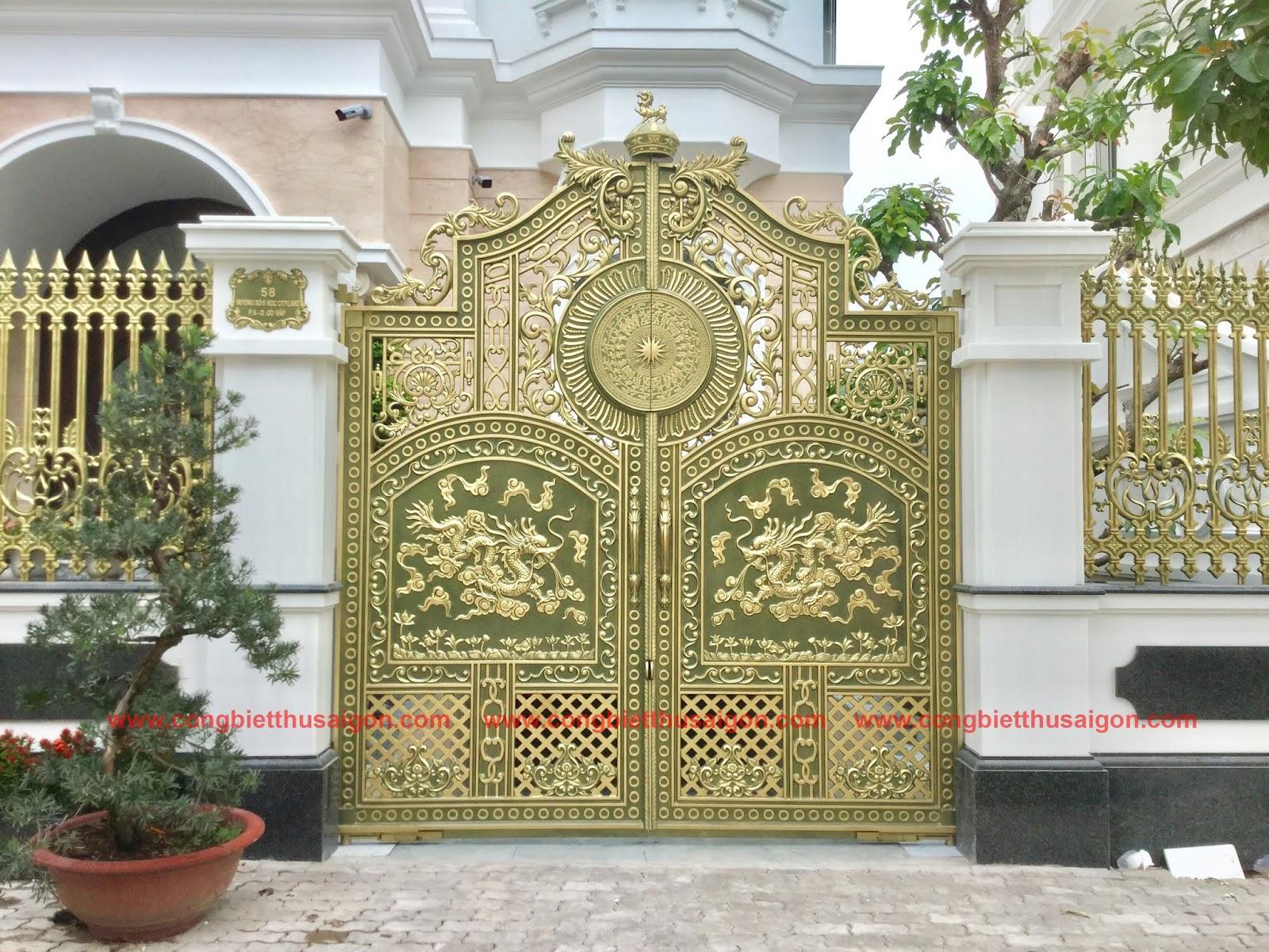 Cổng Nhôm Đúc Quận Gò Vấp