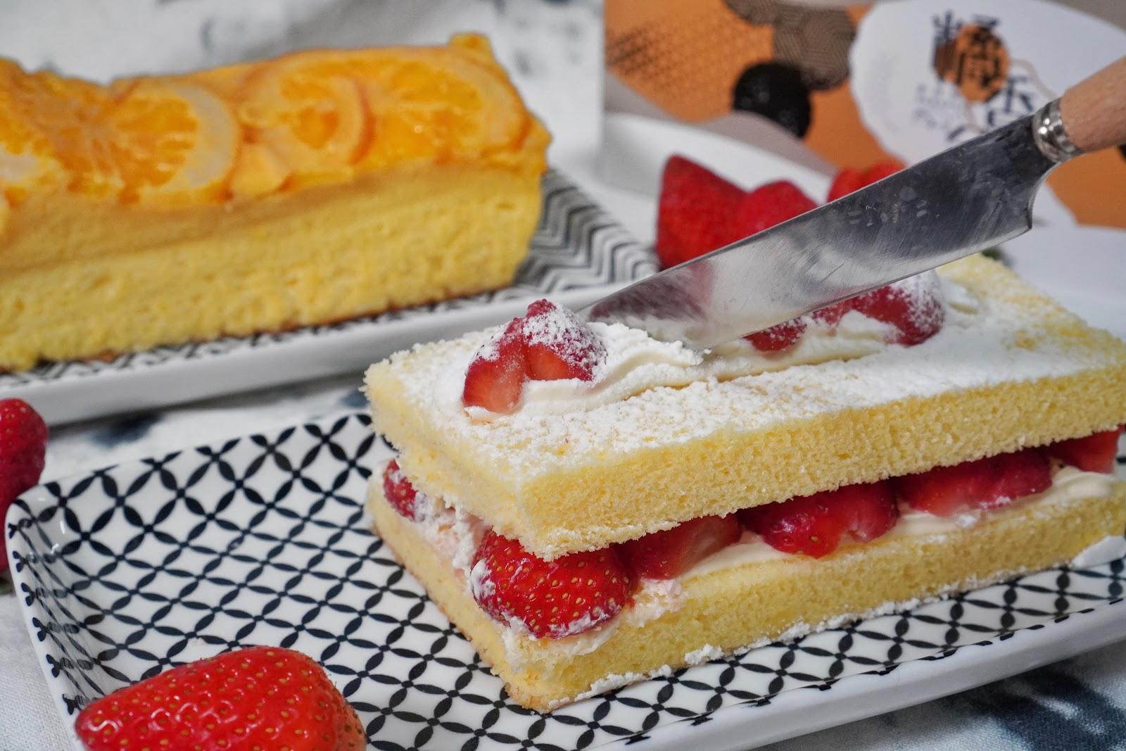 台南中西區美食【橘香合-蛋糕職人】草莓古早味蛋糕推薦