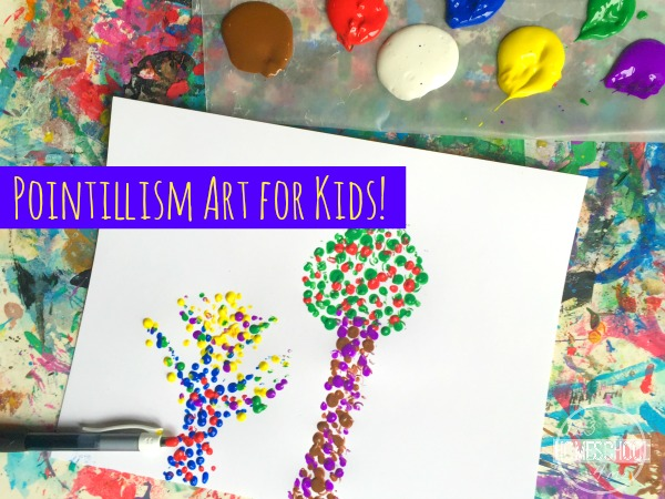 Pointillism Art Project for Kids - this is such a fun craft for kids to help them explore famous artists like Seurat and Signac with this kids activities perfect for your summer bucket list, homeschool, or classical conversations coop