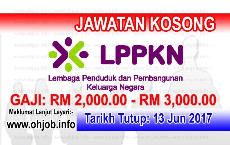 Jawatan Kerja Kosong Lembaga Penduduk dan Pembangunan Keluarga Negara - LPPKN logo www.ohjob.info jun 2017