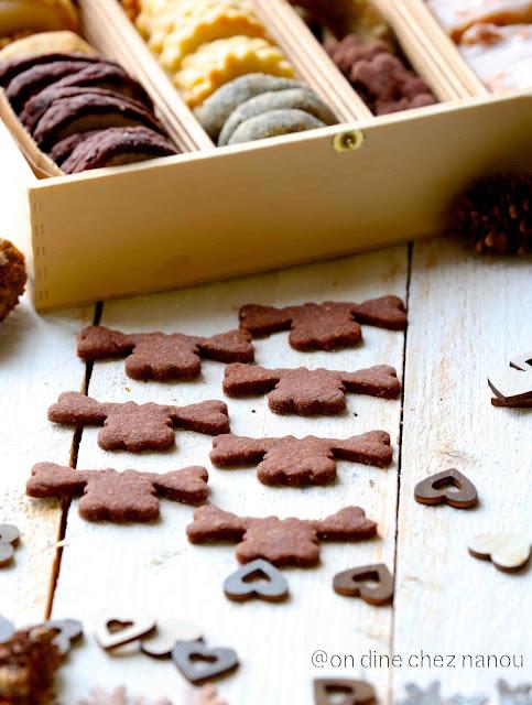 bredele ; cookies de noel , gâteaux , sablés cacao