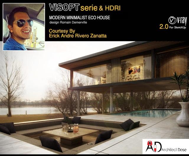 Modern Eco House - Vray for Sketchup VISOPT