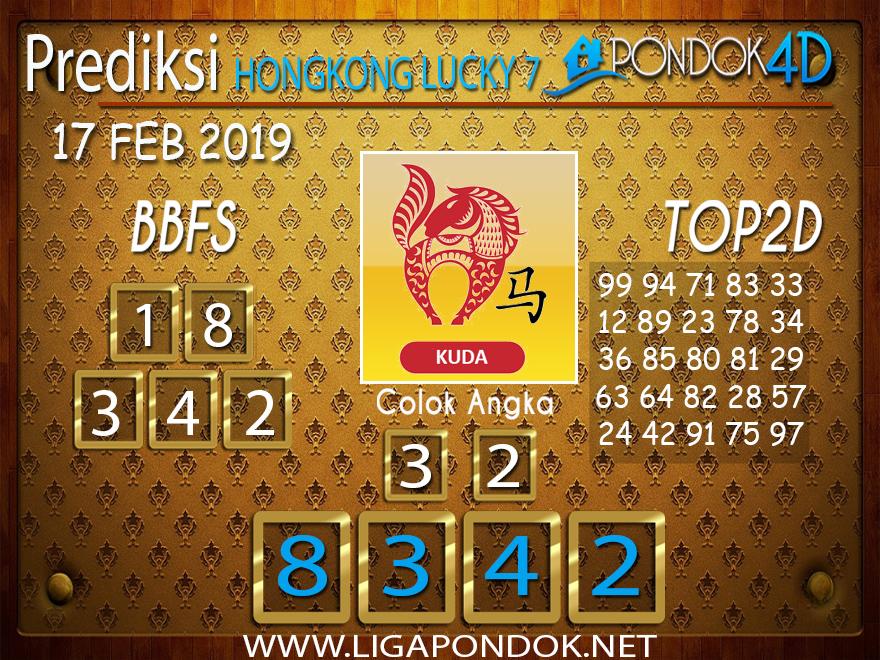 Prediksi Togel HONGKONG LUCKY7 PONDOK4D 17 FEBRUARI 2019