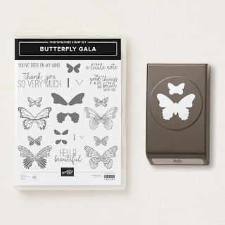 Butterfly Gala stamps and punch
