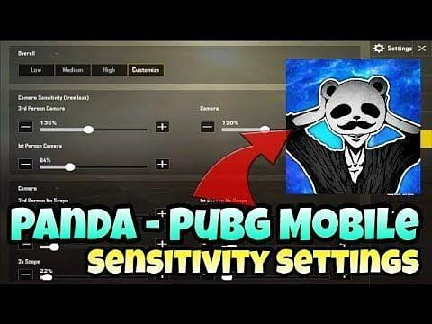 PUBG Mobile: Panda'nın kontrol ayarları ve hassasiyet ayarları!
