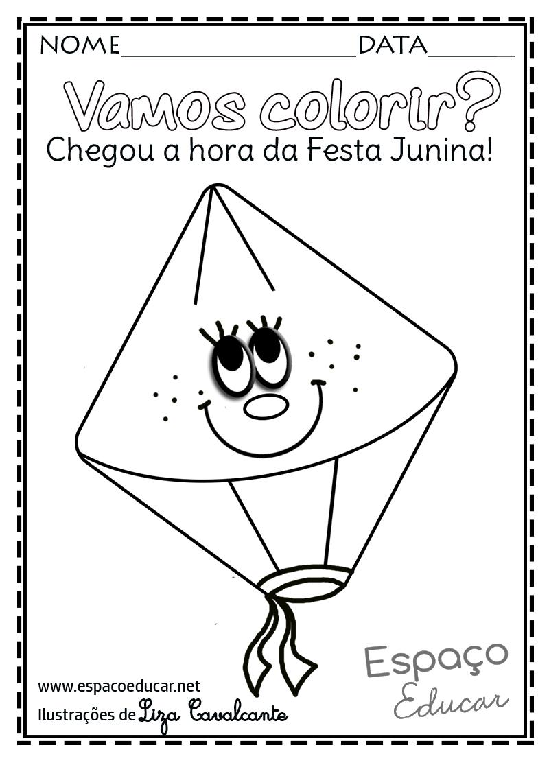 Desenhos De Balao De Festa Junina Para Colorir Pintar Ou Imprimir