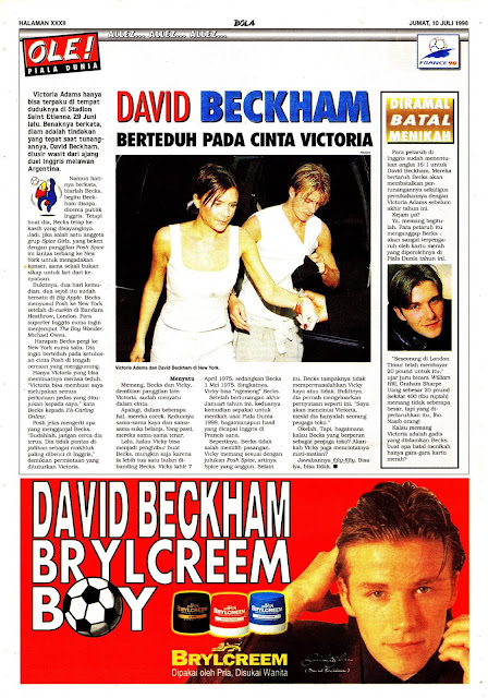 DAVID BECKHAM BRYLCREEM HAIR MODEL
