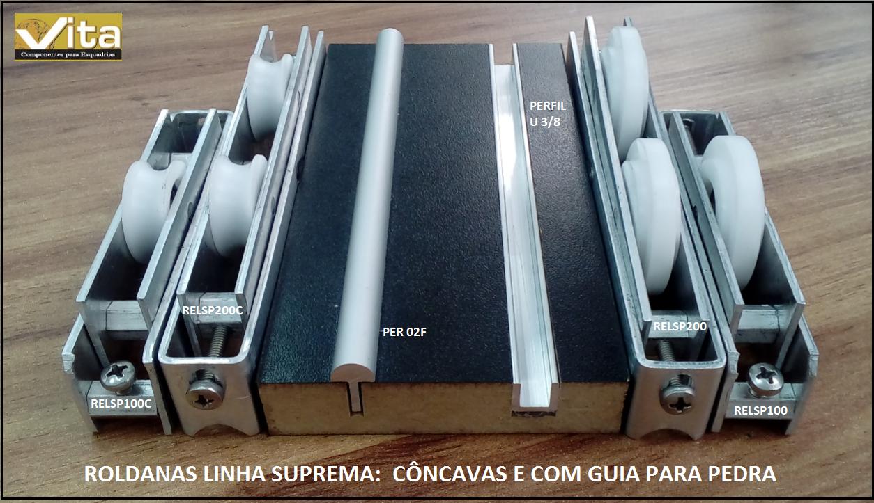 Vita componentes para esquadrias de alum nio roldanas - Guia de aluminio ...
