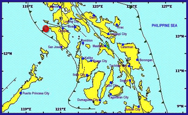 4.9 Magnitude shaken  Paluan (Occidental Mindoro) intensities were reported.