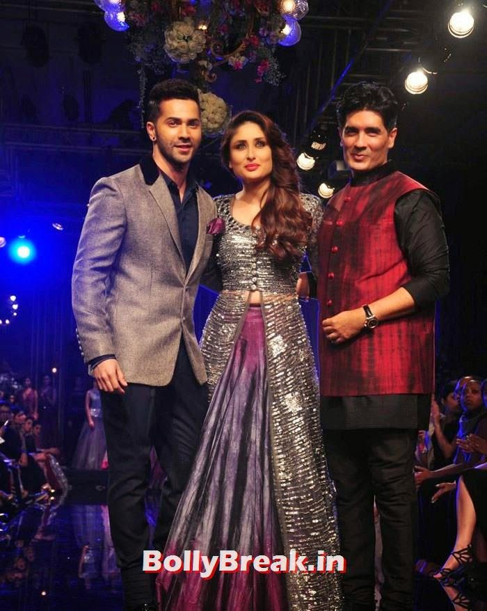 Varun Dhawan, Kareena Kapoor Khan, Manish Malhotra, Pics of Manish Malhotra Show at Lakme Fashion Week 2014