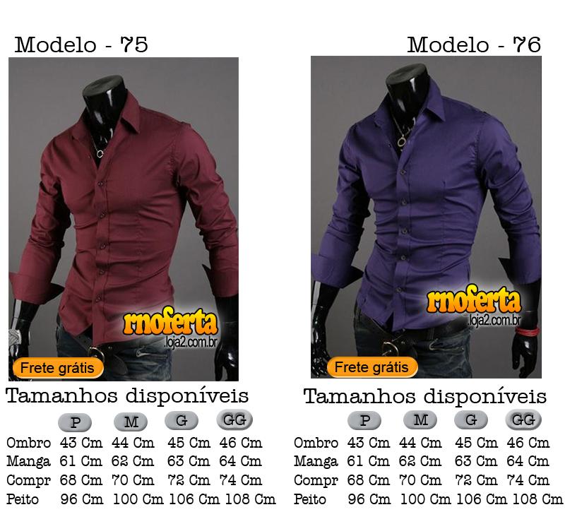 Rnoferta  Camisa Social Slim Fit Importada Frete Grátis 5e137db7cd957