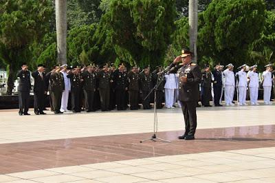 Kapolda Sumut Bertindak Sebagai Inspektur Upacara Pada  Ziarah Nasional