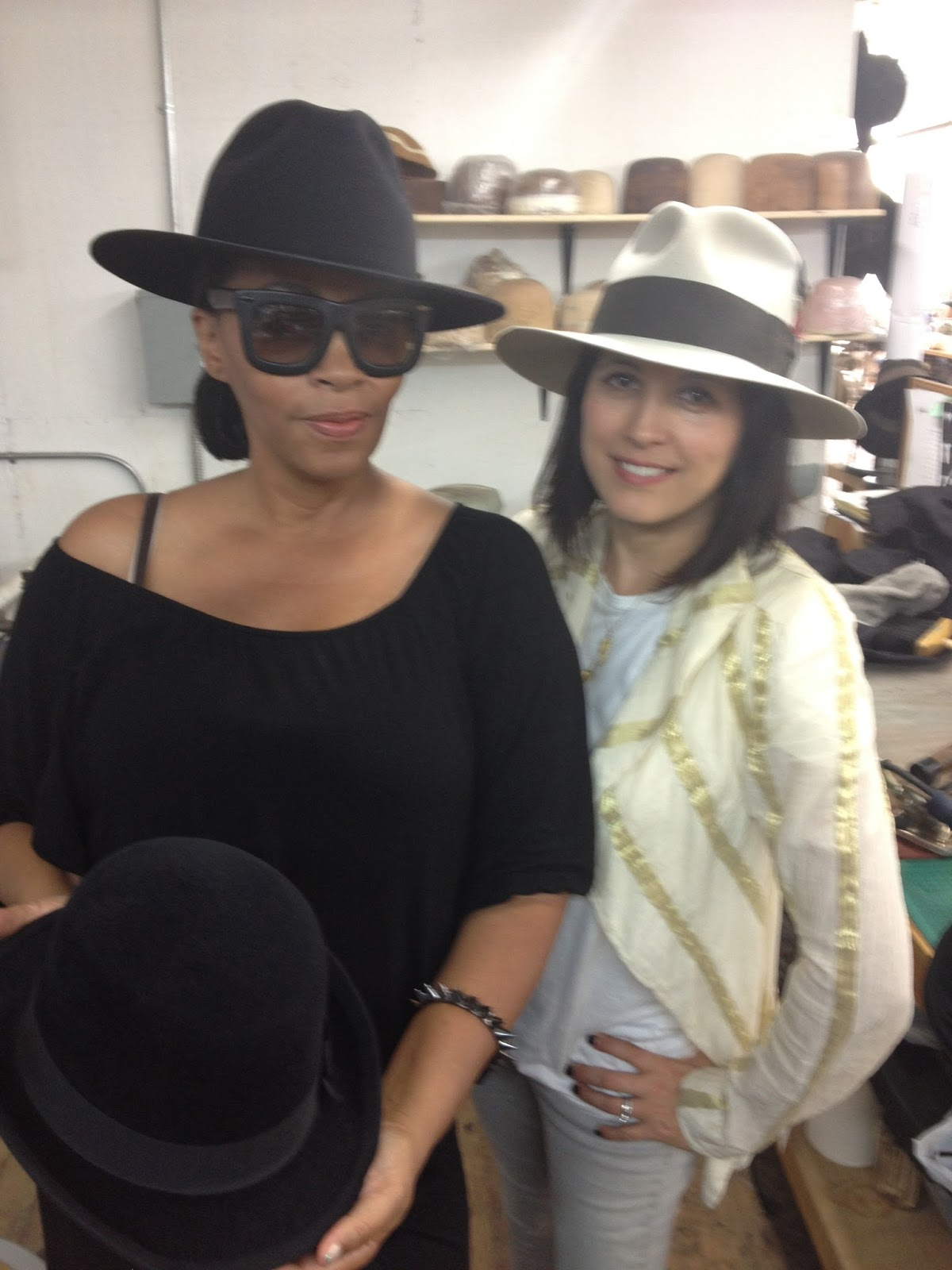 Jody Watley and Gladys Tamez at downtown Los Angeles showroom studio. 0f6a008457d