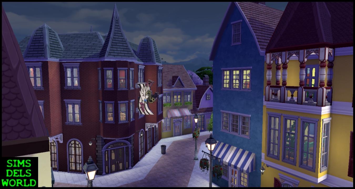 simsdelsworld  the sims 4   european city center   no cc