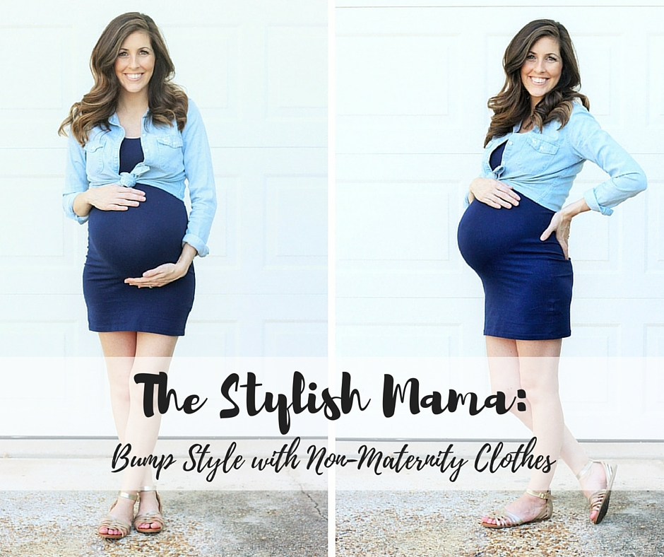 Non maternity clothes are generally meant to flatter the body meaning fitted waists etc and generally don't look as nice as just biting the bullet and going for the maternity .