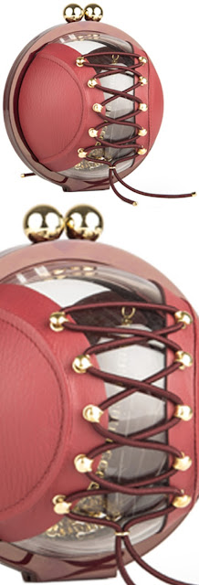 Brilliant Luxury ♦ Marzook Elizabeth burgundy sperical ball bag