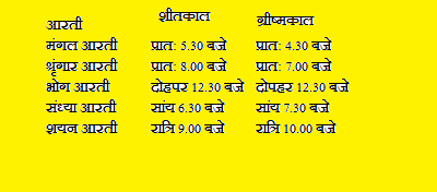 arti Timings of Khatushyam Ji temple
