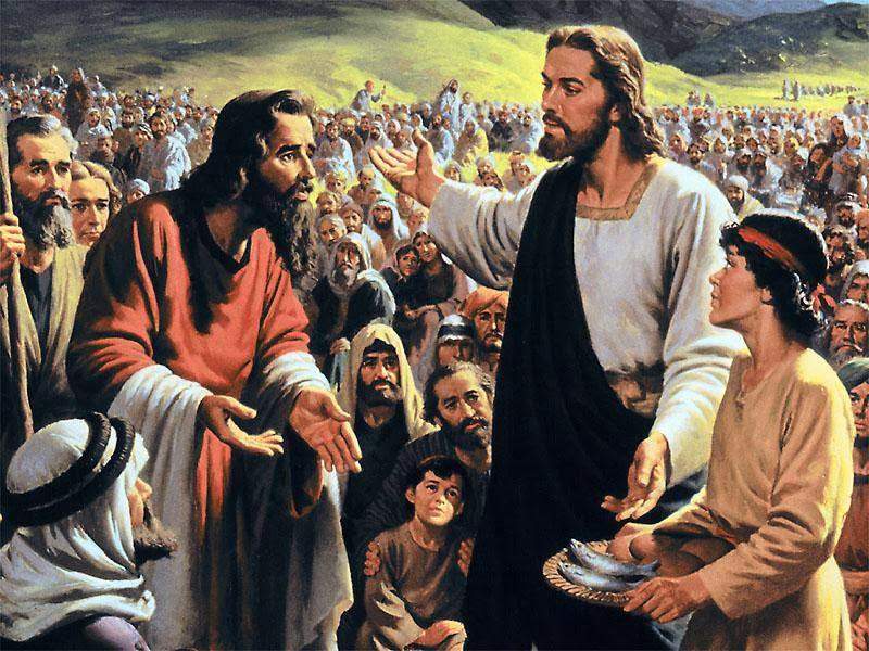 Lecz On im odpowiedział: Wy dajcie im jeść!