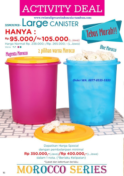 Activity Deal, Tebus Murah, Large Canister