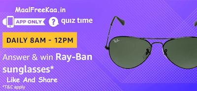Ran-Ban Sunglasses Quiz Time