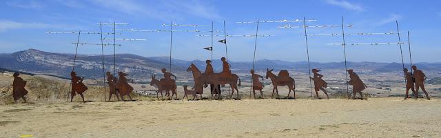Alto del Perdon, Nawarra, Camino, Jola Stępień