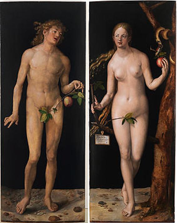 Adan y Eva Durero Museo del Prado