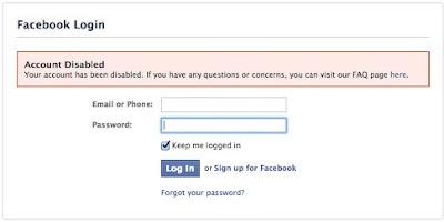 Facebook - Permanent Ban