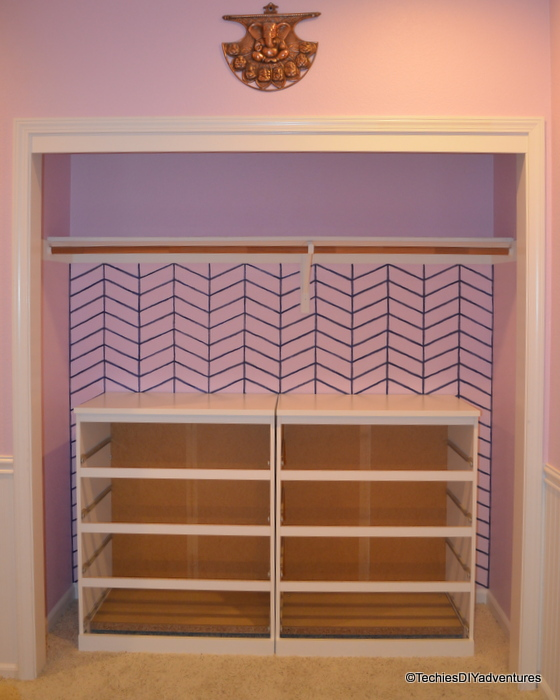 Ikea Malm Built-ins in small closet