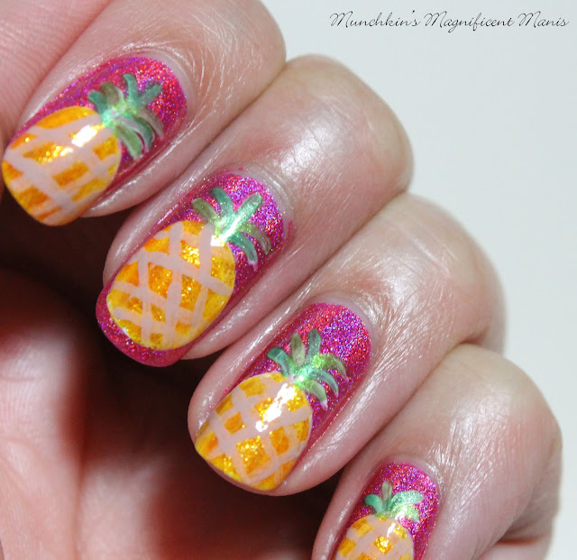 Pineapple Nail Design