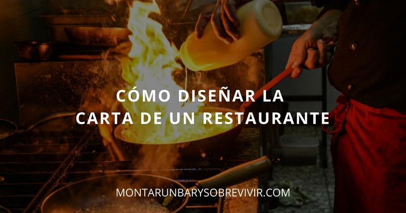 Montar un bar y sobrevivir como dise ar la carta de un for Como disenar un restaurante