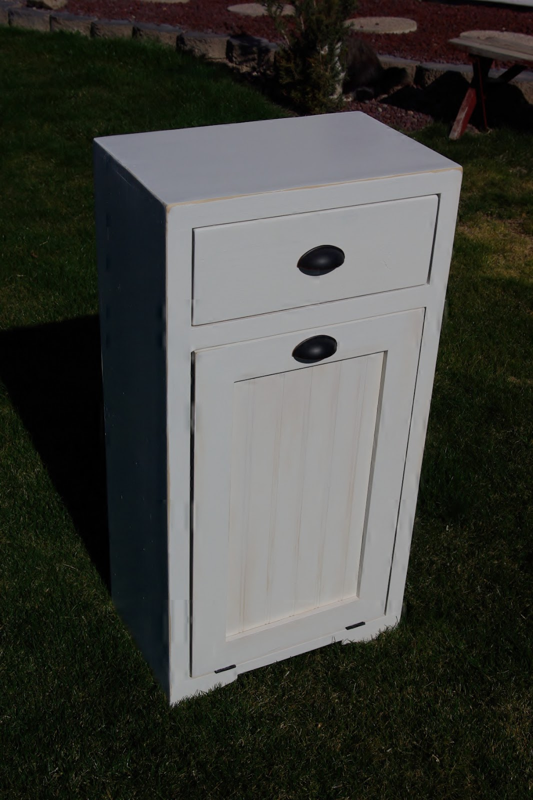Reclaimed Rustics Tilt Out Trash Cabinet
