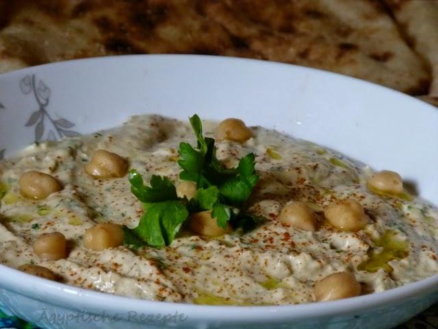 Kichererbsen Sesam Dip aus Ägypten Hummus Rezept