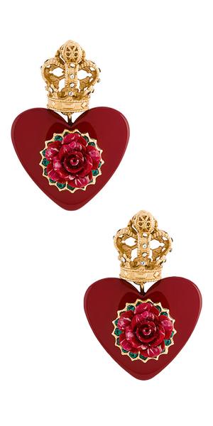 DOLCE & GABBANA Heart Resin Earrings