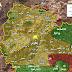خريطة توضح نسبة السيطرة في مقاطعة عفرين