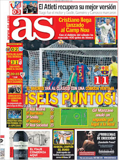 portada As empate Real Sociedad 28 11 2016 A seis puntos