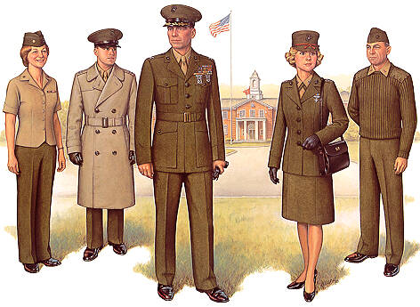 uniforms of the us marine corps marine corps. Black Bedroom Furniture Sets. Home Design Ideas