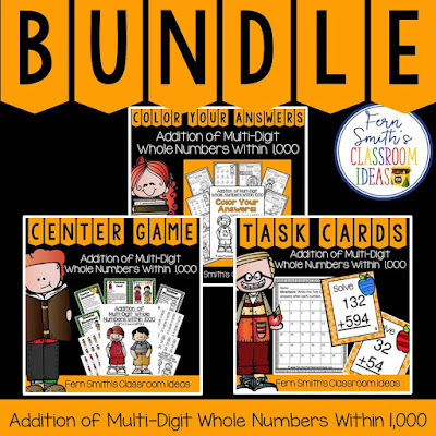 3rd Grade Go Math Lesson 1.7 Addition of Multi-Digit Numbers to 1000 Bundle