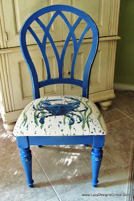 diy crab chair makeover coastal, beachy chair